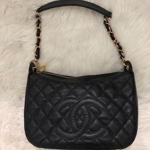 AUTHENTIC Chanel Caviar Timeless Shoulder Bag